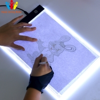 Leaning Machine LED Drawing Pad Tablet Drawing Pad Box Board LED Drawing Board USB Powered A4 Copy Station Leaning