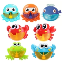 Electric Crab Bubble Machine Bathtub Bubble Maker Light Music Baby Bath Soap Machine Toys Swiming Blower Toy Water Fun For Kids