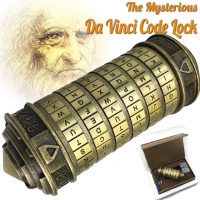 Magic!!Educational toys Metal Cryptex locks gift ideas Da Vinci Code lock to marry lover escape chamber props get 2 free rings