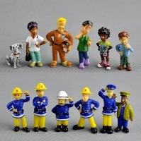 12Pcs/Set anime Fireman Sam action figure  figure PVC Figures doll toys 3-6cm Cute Cartoon  For Decoration or collection