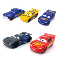 Disney Pixar Cars 3 Lightning McQueen Mater Jackson Storm Cruz Sheriff Lizzie 1:55 Diecast Metal Model Toy Car Gift For Kids
