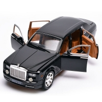 1/24 Big DieCasts Luxury Car Model Collectiion L=20Cm Display W/ 6 Openable Doors Nice Painting Pull Back &Return Power
