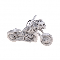 1PCS NEW skull motorcycle toy Gift Skull Keychain Vintage Rubber Devil Death   Pirate Trinket Motor Car Toy