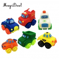 MagiDeal Hot Sale 6 Pieces Kids Children Baby Rubber Plastic Model Car Vehicle Educational Toy Great Birthday Christmas Gift