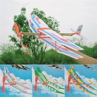 1pcs Toy Rubber Band Powered Glider Biplane Assemble Aircraft Plane Model For Kid Education 50*43cm Rubber Band Plane Randomly