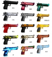 3D Paper Model DIY 1:1 Desert Eagle Toy Gun Model CF Traversing the Fire Line Brinquedos Gift for Children Birthday A421
