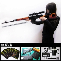 Difficulty DIY for Grownups Scale 1:1 SVD Dragunov Sniper Rifle 3D Paper Gun Model Assembly Toy Handmade Ornaments Gifts A306