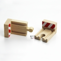 P042 Compatible with wooden railway track the end stop rail train wooden rail accessories fancy toy game scene 2pcs/lot