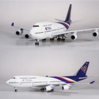 1/150 Scale 47cm Airplane Boeing B747 Aircraft Thailand THAI Airline Model W Light and Wheel Diecast Plastic Resin Plane