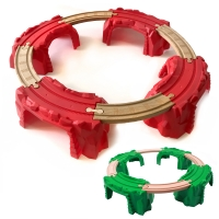 Curved Track Cave Bridge Compatible with BRIO Wooden Trains and Tracks Multiple Combinations Develop Children's Imagination