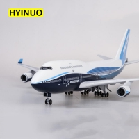 1/150 Scale 47CM Airplane Boeing B747 Aircraft Plane International Airline Model W Light and Wheel Diecast Plastic Resin Plane