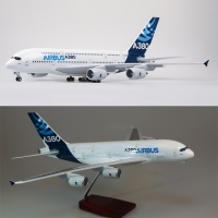 1/160 Scale 50.5CM Airplane Airbus A380 Prototype Airline Model W Light and Wheel Diecast Plastic Resin Plane For Collection