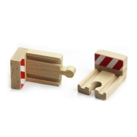 P042 end stop track 2pcs/lot  compatible with train  wooden track for BRIO rail bridge electric rail cars game essential