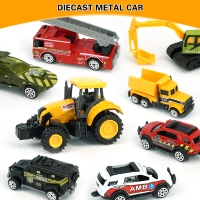 Toy Car 1:64 Alloy Car Mini Diecast Metal Car Toys Construction Vehicle Police Military Toy Car Model Set Collections Gift