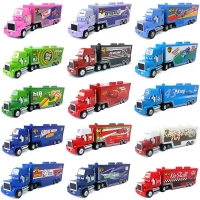 Disney Pixar Cars Mack Lightning McQueen Chick Hicks King Francesco Hudson Truck Toy Car 1:55 Loose New Kid Gift & Free Shipping