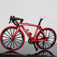 1:10  Metal Bicycle Model Toys  Curved Racing Cycle Cross Mountain Bike Replica Collection Diecast for Children's Gift