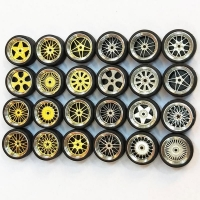 1/64 1:64 wheel Tire Modified Vehicle Alloy Car Refit Wheels Tires For Cars Suitable For Some Tomica Cars Toys for Kids 4pcs/Set