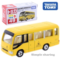 Tomica No.49 Toyota Coaster Kindergarden Bus model kit Takara Tomy diecast toy car funny kids toys for children collectables