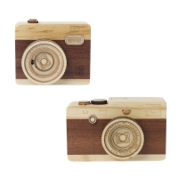 Wooden Box Retro Camera Design Classical Melody Birthday Home Decoration Fragile goods