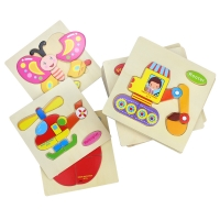 Baby Toys Wooden Puzzle Cute Cartoon Animal Intelligence Kids Educational  Gift Brain Teaser Children Tangram Shapes Jigsaw gift