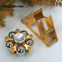 ZH 1PC Metal Five Bead Ferris Wheel Fingertip Gyroscope Stainless Steel Ball Bracket Finger Gyro Fidget Spinner