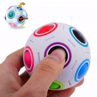 New Hot Strange-shape Magic Cube Toy Desk Toy Anti Stress Rainbow Ball Football Puzzles Stress Reliever