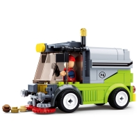Enlighten Building Block City Cars Street Sweeper 102pcs Educational Bricks Toy Boy Gift-No Box