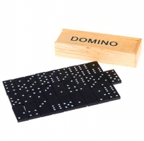 28pcs/Set Domino Block Black Educational Baby Toys Christmas Gifts Funny Kids Games With Wooden Box