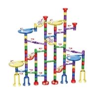 80/122 Pcs Marble Run Set Toys for Boys Girls, Construction Building Blocks Toys Marble Maze Game Christmas Toys Gifts for Kid