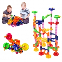 105pcs/Set DIY Huge Construction Marble Race Run Track Building Blocks Kids Maze Ball Roll Toys Educational Toy Children's Gift