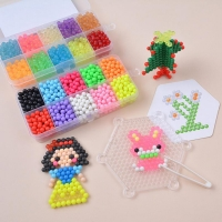 Water Fuse Beads Kit 10 Colors Over 1100 Beads Refill Compatible Magic Spray Sticky Beads Set for Kids Art Crafts Toys