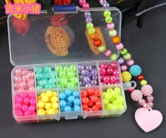 200pcs Beads Toys For Children DIY Hand-made Necklaces Bracelets Girl Kids Toddler Beaded Puzzles Educational Toy