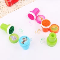 20PCS Kids Cute Colorful Cartoon Animal Sea Life Self-ink Stamps Inkpad Stamper Accessories DIY Scrapbooking Painting Toy