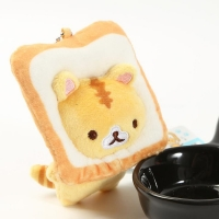 Japanese popular bread cat toast cat plush doll Small pendant doll small yellow cat bag hanging ornaments WJ01