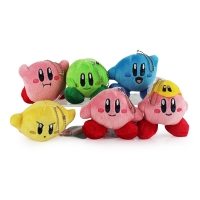 6 Styles 7cm Kawaii Star Kirby Plush Toys Cute Keychains Small Pendant Dolls For Bags Kids Gifts
