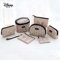 Disney Minnie Mouse portable cosmetic make up bag multi-purpose storage coin cartoon purse handbag Mickey Mouse Makeup PU