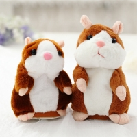 Dropshipping Promotion 16cm 18cm Talking Hamster Toys Speak Sound Repeat Stuffed Plush Electric Toys Animal Cute Hamster Toys