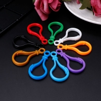 100pcs Plastic Colorful Lamp Shape Buckle Snap Hook Lobster Clasp DIY Needlework Luggage Sewing Handmade Bag Purse Toy Doll Tool