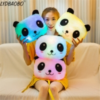 Creative Luminous Pillow Panda Cushion Colorful Glowing Infant Appease Animal Plush Doll Led Light Toy Girl Kids Christmas Gifts