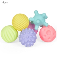 6PC Infant Soft Ball Toys Multi-Texture Touch Ball Eco-Friendly Colorful Ball Baby Water Game Water Balloons Bath Toys For Kids