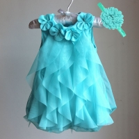 Baby Girls Dress 2020 Summer Chiffon Party Dress Infant 1 Year Birthday Dresses Girl Clothes & Headband Vestidos