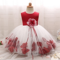 2019 Cute Fashion Baby Flower Christening Gown Baptism Clothes Newborn Kids Girls Birthday Princess Infant Party Dresses Costume