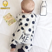 2019 Hot selling Fashion Baby Boy Girl Clothes Newborn Toddler Long-sleeved Dot jumpsuit Infant Clothing set Outfits