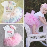 Kids Tutu Skirts For Girls 2020 Event Baby Girls First Birthday Party Outfit Infant Girl 1 Year Baptism Clothes Skirts