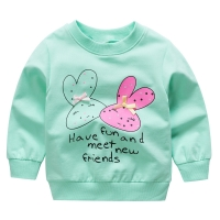 Baby Girls T-Shirts cotton Long Sleeve Sweet Baby Clothing Cartoon Cute Tee Tops Kids Bib newborn clothes HOT! Free shipping