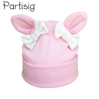 Partisig Baby Girl Hat Rabbit Ear Hat For Girls Cotton Bow Knot Kids Hat Children's Hats Caps