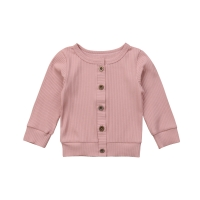 Casual Newborn Infant Baby Girl Long Sleeves Solid Cotton Knitted Sweater Cardigan Coat Tops Autumn Fashion