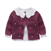 Girl's Knit Sweater Cardigan Jacket Baby Girls Outfit Newborn Infant Clothes Baby Girls Knitted Sweater Cardigan Coat BC214
