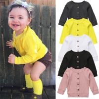 Emmababy Fashion Newborn Kids Baby Girls Long Sleeves Knitted Cardigan Sweaters for Lovely Cute Children Clothing Dropship