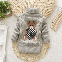 BibiCola high quality baby girls boys pullovers turtleneck sweaters autumn winter warm cartoon infant kids outerwear jackets